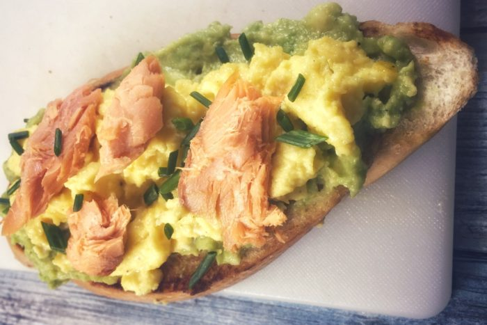 Six Days of Smoked Salmon – Avocado Toast with Egg and Salmon