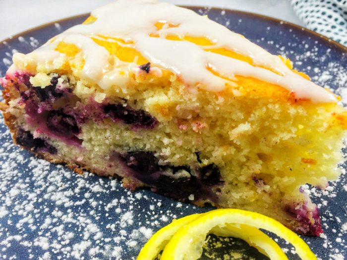 A Slice of Sunshine – Lemon Blueberry Yogurt Cake